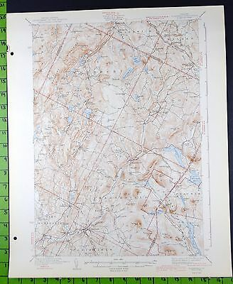 Plainfield Vermont Antique USGS Topographic Map 1943 16x20
