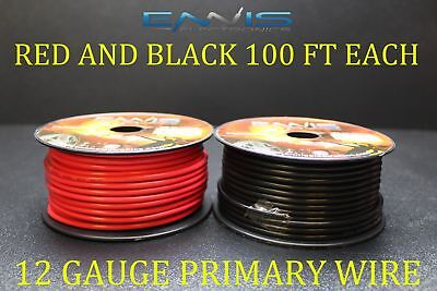 8 GAUGE WIRE 100 FT RED AWG CABLE ENNIS ELECTRONICS POWER STRANDED SUPERFLEXIBLE