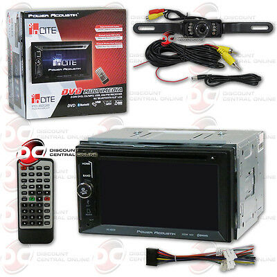 "Power Acoustik Pd-623B 6.2"" Car Dvd Bluetooth Stereo Free License Plate Camera"