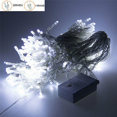 100 LED Xmas Party String Lights Lamp Wedding Christmas Outdoor Decor Cool White