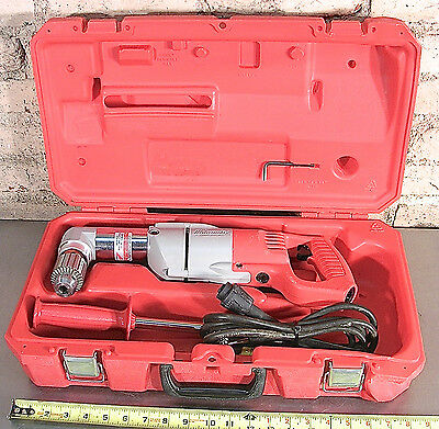 """MILWAUKEE MODEL No. 3107-6, CORDED RIGHT ANGLE 1/2"""" DRILL KIT - MADE IN U.S.A."""