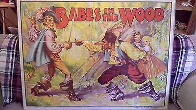 1930s original pantomime poster, Babes in the Wood