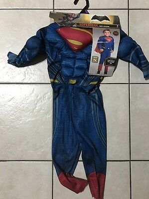 Batman v Superman Superman Deluxe Muscle Chest Child Costume Size 2T-3T