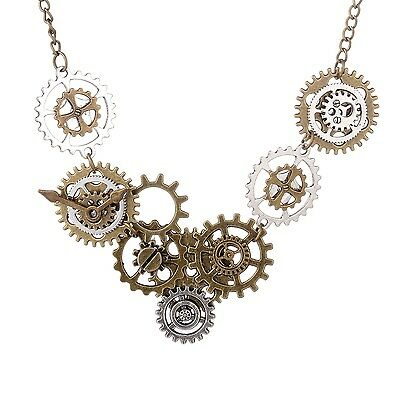 Vintage Watch Movements Gear Necklace Pendant Victorian Steampunk Necklace