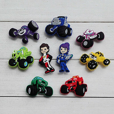 100PCS Monster Truck Racing PVC shoe charms accessories buckle for Bracelets