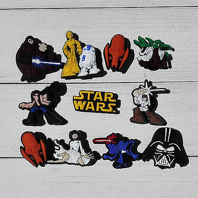 Random 100pcs Star Wars PVC shoe charms accessories for Bracelet JIBZ Croc Gifts