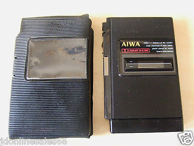 RARE Working Aiwa HS-PC202 Personal Stereo Cassette Tape Player Black Metal
