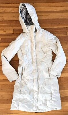 Women's The North Face 500 Fill White Down Parka Jacket Sz Xs