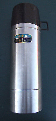 Vintage Thermos stainless steel quart size 2464 stopper 764 cup vacuum bottle