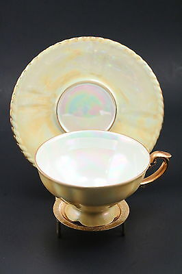 SUNNY GOLDEN YELLOW RW Fine China Tea Cup IRID MADE IN GERMANY BAVARIA 5