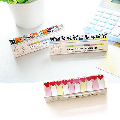 Cartoon Animals Sticky Note Stick & Memo Paper Bookmark Stationery CN