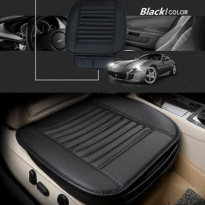 Black Bamboo charcoal PU Leather Car Seat Surround Cover Breathable Cushion Pad