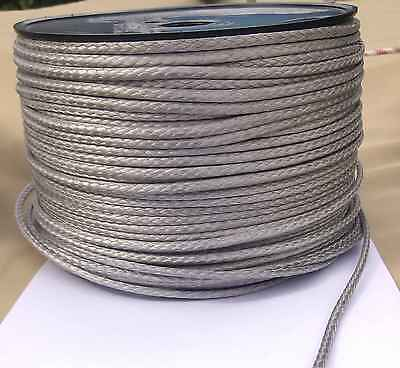 4mm X 50M Silver Dyneema® Fiber Synthetic Winch/ yacht rope tensile:1800kg --NEW