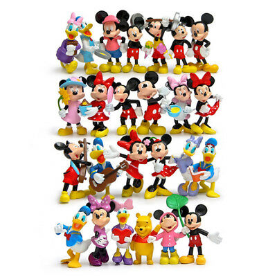 25pcs Disney Mickey Mouse Minnie Mouse Donald Duck Figures Clubhouse Playset