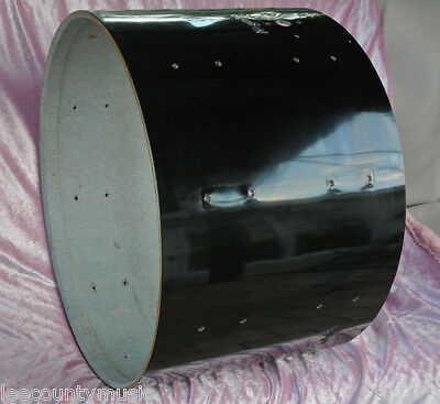 "EARLY 1970's VINTAGE Rogers 22"" BLACK BASS DRUM SHELL for YOUR DRUM SET! #Z56"
