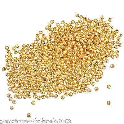 1000PCS Wholesale Lots Gold Plated Smooth Ball Spacer Beads 3mm Dia