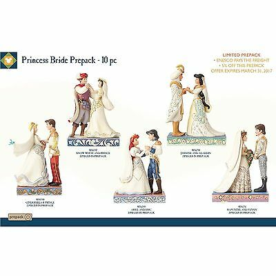 Jim Shore Disney Traditions 2016 Princes Wedding Set/5 #4058898 NIB