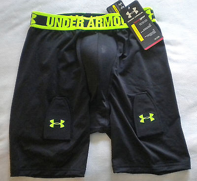 NWT $50 Boy's UNDER ARMOUR Fitted HOCKEY SHORTS & CUP, Velcro Garters XL 18-20