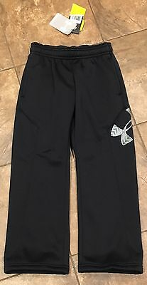 Boys Under Armour Youth Black Logo Coldgear Storm 1 Sweat Pants XS X-Small NWT