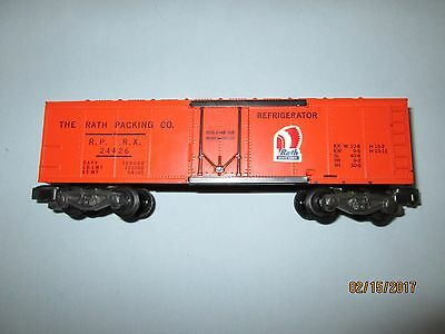 Very Rare American Flyer #24426 Rath Packing Co. Reefer Car. Excellent Condition