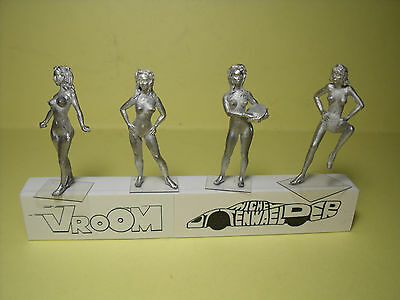 4  Figurines  Set 272  Nude  Girls  Belles  Creatures   Vroom  1/43  No Spark