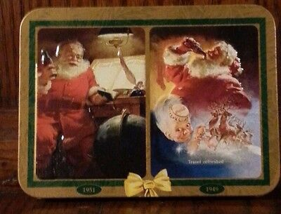 1997 Coca Cola Santa Claus Unopened Playing Cards In Collector Tin