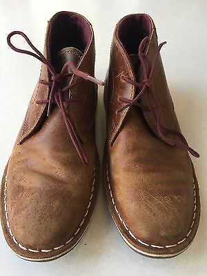 Kids Next Brown Leather Boots Size 2