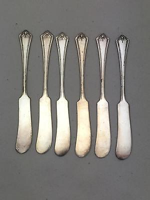 Lot of 6 Butter Spreader Knives Oneida Community Reliance Plate ANDOVER Pattern