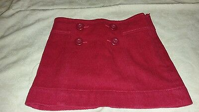 GAP KIDS Girls Maroon Wool Blend Lined Skirt Side Zip Size 6 Holiday