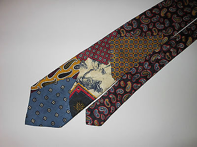 #494 Canali Made In Italy Gorgeous Colorful Classic All Silk Tie