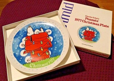 NEW Vintage 1977 Peanuts Christmas Plate Collector #6 in Series w/ Box