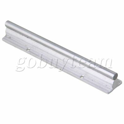 Silver Aluminum & Steel SBR10 Linear Bearing Rail L200mm for CNC Machine