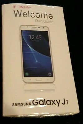 Samsung Galaxy J7 Welcome Start Guide / Manual T-Mobile - No Phone