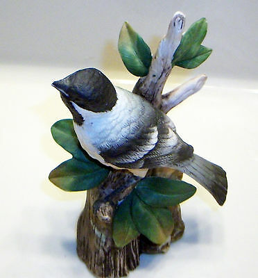 John James Audubon Black-Capped Chickadee Porcelain Figurine 1983