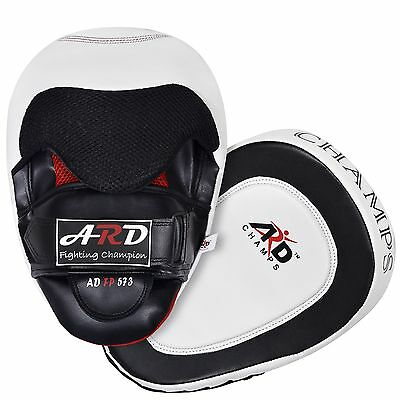 2Fit™ GEL Punch Mitts Leather Art Boxing Kick Punching MMA Training Focus Pad