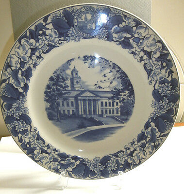 Vintage class of 1958 Acadia University Canada  Wedgwood blue plate - 10 inch