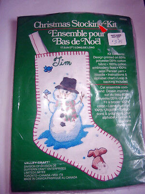 Vintage Valley Craft Christmas Stocking Kit 7 inches long NEW