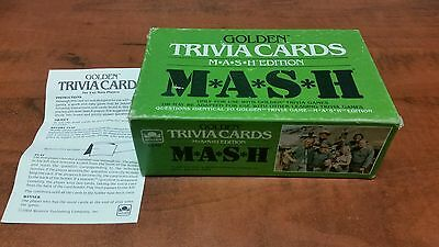 VINTAGE 1984 GOLDEN TRIVIA CARDS MASH EDITION #4156 IN ORIGINAL BOX Free Ship