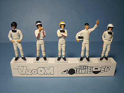 5  Figurines  Set 246  Drivers  Pilotes  1960  Vroom  1/43  Unpainted  Figures