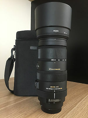 Sigma 120-400mm f/4.5-5.6 DG HSM APO OS AF Zoom camera Lens for Canon - Near new