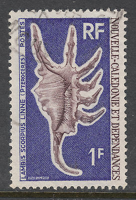 NEW CALEDONIA 1968 SG 444 1fr Shell VERY Fine used(a)