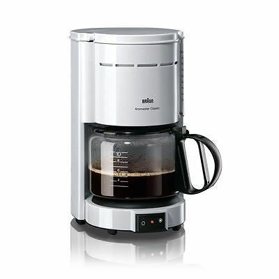 BRAUN KF47/1 Cafetiere a filtre - 10 tasses - Blanc - 1000W