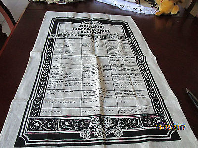 Pure Linen Tea Towel - Aussie Drinking Guide