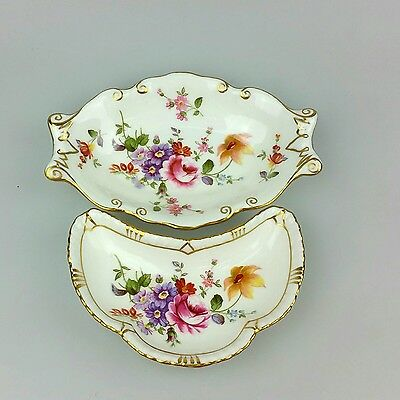 Vintage - Royal Crown - 2 X Lovely Pin Dishes - Made In England - Bone China