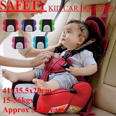 Car Booster Safety Sturdy Seat Chair Pad Baby Children Toddler Fit 3 To 12 Years