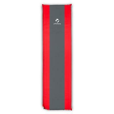RED / GREY 7 cm SELF-INFLATING PAD CAMPING BEACH INFLATABLE SLEEPING MATTRESS