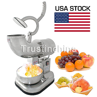 Electric Ice Shaver Machine Snow Cone Maker 440lbs Crusher Shaving Cold Drink