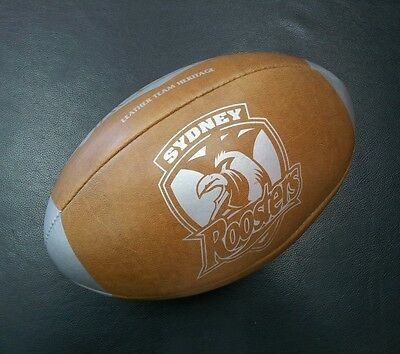 Steeden Sydney Roosters Laced Leather Team Heritage Rugby League NRL Ball *NEW*
