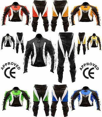 2 Piece Motorbike/motorcycle Racing Leather Suit.any Logo.