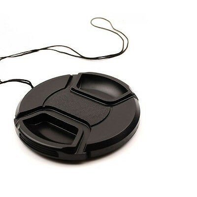 58mm Front Lens Cap Cover Snap-on Center Pinch for Canon Nikon Sony Camera